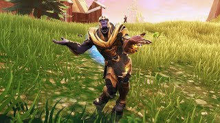 Fortnite Can You Dance With Thanos Thanos Hits The Orange