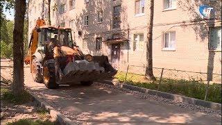 В Великом Новгороде продолжается создание комфортной городской среды во дворах за федеральный счет