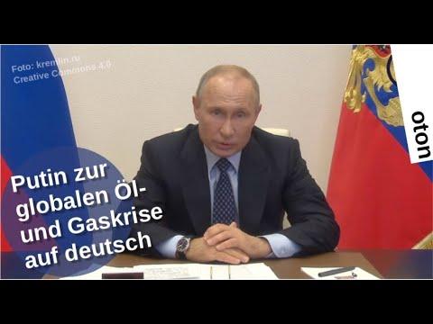 Putin zur globalen Öl- und Gaskrise auf deutsch [Video]