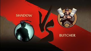 Shadow Fight 2 : Act 3 Boss Fight - Butcher HD ( Using Hermit's Swords )