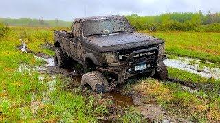Lifted Diesel Mudding (Got Really Stuck)