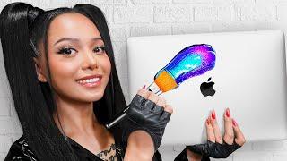 I Surprised Bella Poarch With 20 Custom Macbooks - Tik Tok