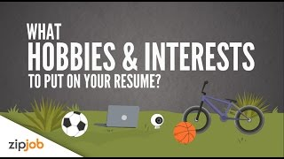 Hobbies and Interests you Need to Include on a Resume