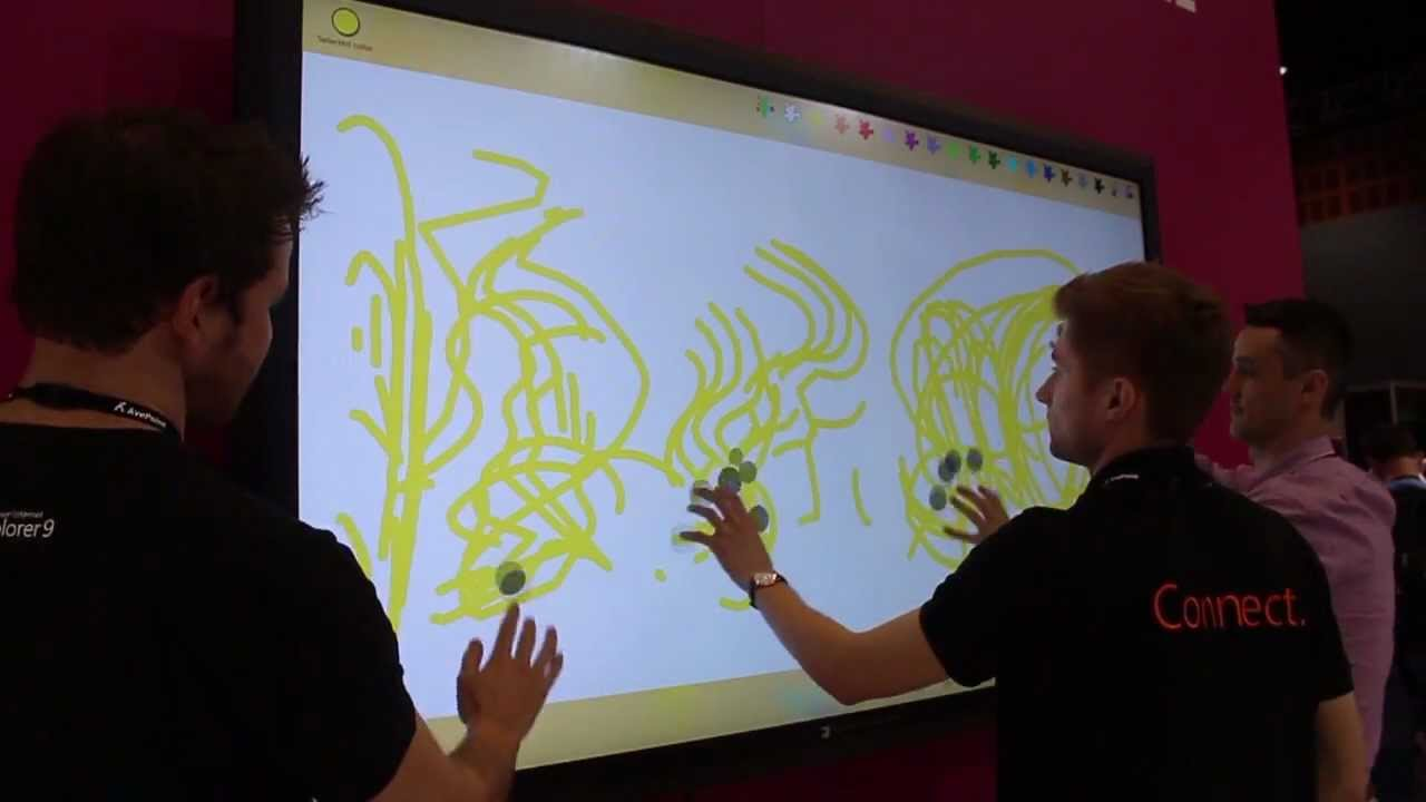 Windows 8 On An 82-Inch Touchscreen [Video]