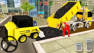 City Road Construction Simulator - Construction Vehicles - Excavator Road Clean - Android GamePlay