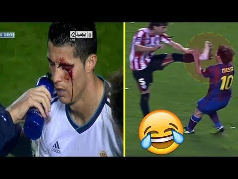 LAS FALTAS MAS DOLOROSAS DEL FÚTBOL | Lionel Messi, Cristiano Ronaldo, Neymar & Mas