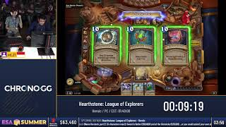 #ESASummer18 Speedruns - Hearthstone: League of Explorers [Heroic] by srd_27