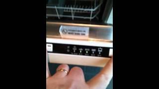 Lamona Dishwasher 8601 green lights 2&3 flashing together fault Help