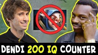 Dendi 200 IQ COUNTER PICK — Meepo mid DESTROYED