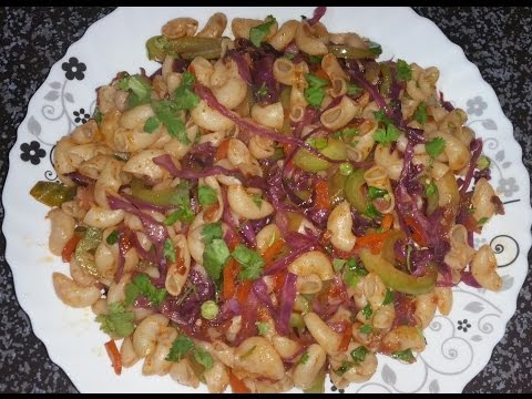 , title : 'How to cook Macaroni with purple cabbage recipe.