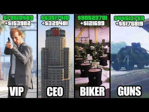 GTA 5 ONLINE - TOP 5 BEST BUSINESSES TO BUY & MAKE MONEY! (VIP, CEO, BIKERS & GUNRUNNING)