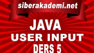 java   user input   ders 5