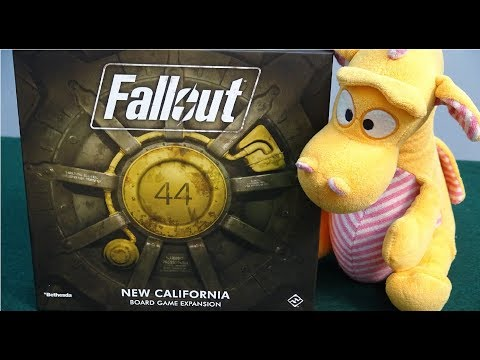 Fallout: The Board Game - New California Expansion - Unboxing