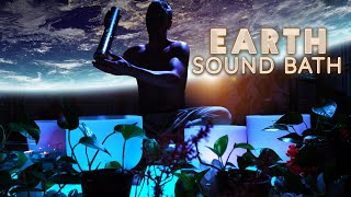 Sound Bath for Earth | Brain Tingles | Crystal Singing Bowls | Brain Massage | Planetary Cleanse