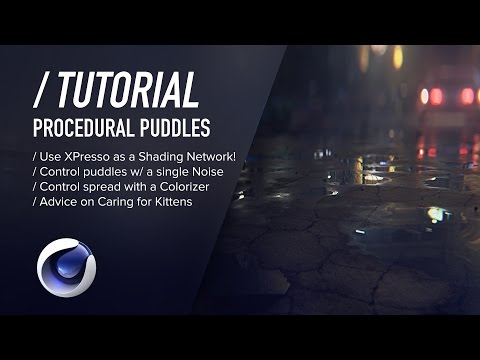Puddles with an xpresso shader