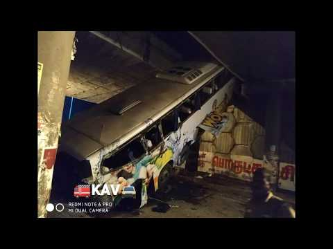 KSRTC Bus falls off from bridge at Tirupur , Tamilnadu - asianetnews