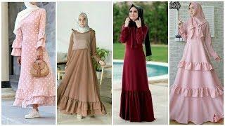 Stunning Hijabi Long Sleeves Floor Length Maxi Dresses 2019