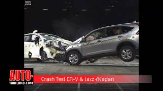 Crash Test Honda CR V & Honda Jazz @Japan
