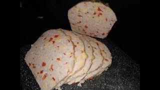 Мясной хлеб с сыром и сладким перцем
