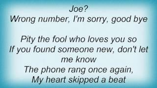 Aaron Neville - Wrong Number Lyrics