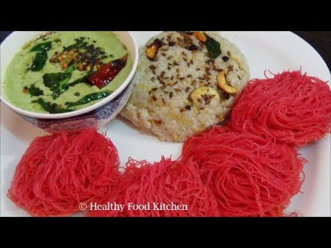 Healthy Breakfast Menu Recipe 2-Kuthiraivali (Barnyard) Pongal Recipe-Beetroot Idiyappam Recipe