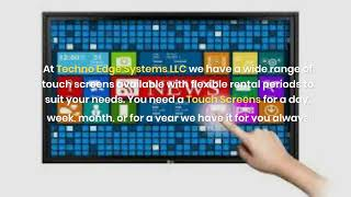 Why do you need Touch Screen Rentals to Make your Events in Dubai?