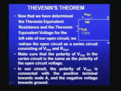 IIT Lectures on Electronics - Some Useful Theorems in Basic Electronics