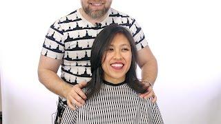 Medium Length Layered Haircut - TheSalonGuy