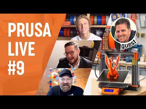 PRUSA LIVE #9 - guest Pooch (Repkord & OPShieldsUp), calibrating LA1.5, Q/A + bonus