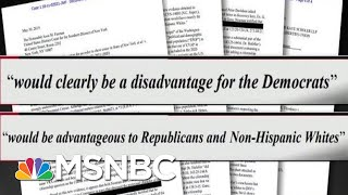 Smoking Gun Evidence Of President Donald Trump's Push To Rig The Census | All In | MSNBC