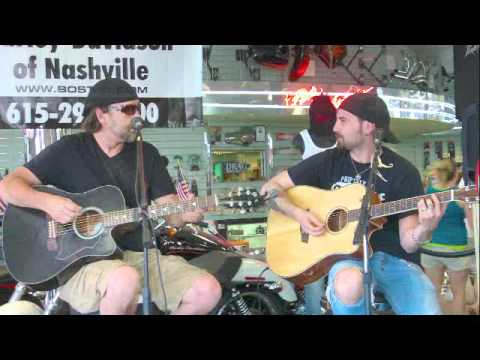 Jeremy Curtis playing and singing at Bost Harley Davidson in Nashville