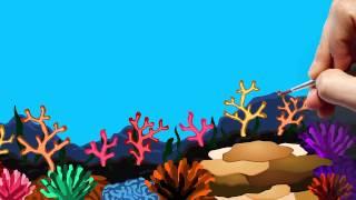 Рисованная видео открытка С днем рождения Саше