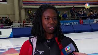 Olympic Long Track Speedskating Trials | Erin Jackson Discusses Making First Olympic Team