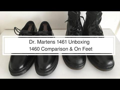 Dr Martens 1461 Mono Black Unboxing   1460 Comparison   On Feet
