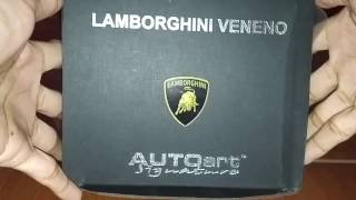Unboxing AutoArt Lamborghini Veneno Grey Red List 1:18 - Indonesia
