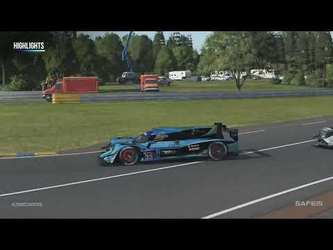 WEC ル・マン24時間バーチャルレース 5時間後 ハイライト動画