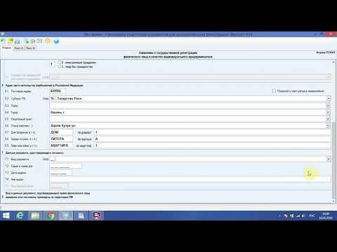 Заполнение формы Р21001 на регистрацию ИП. Правила заполнения формы Р21001 на открытие ИП