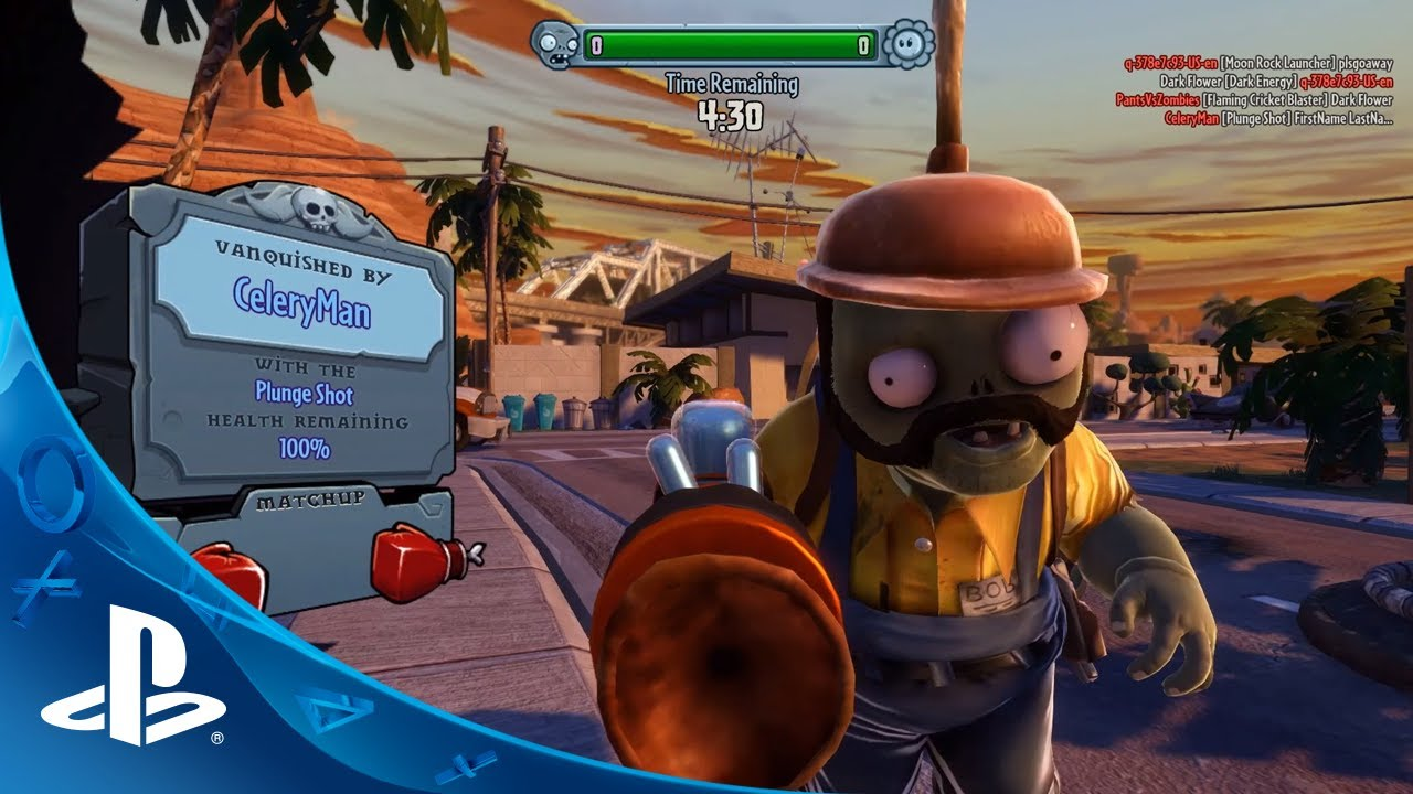 Plants vs. Zombies Garden Warfare Hits PS4, PS3 on 8/19