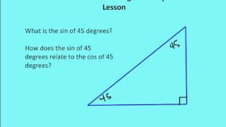 9.9 & 9.10 Trigonometry (Lesson)