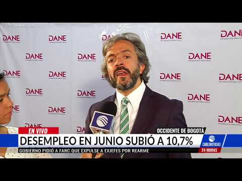 Desempleo en Colombia para el mes de julio se ubico en 10.7%, segun el DANE