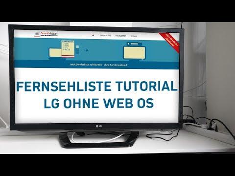 Senderliste auf LG TV installieren (LG ohne webOS)