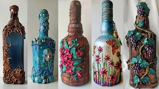 5 Bottle Art For Home Decoration