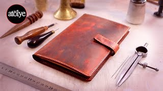 Making A Leather Journal Notebook Cover | Pull Up Leather | How Its Made