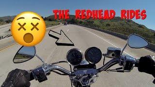 Girl Rides Harley When Engine Blows