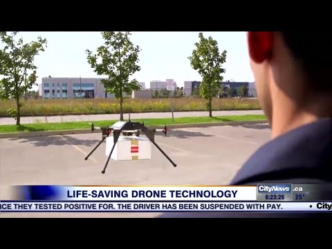 Defibrillator-delivering drones being used by Peel paramedics