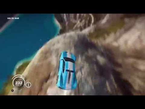 Amazing Car Driving Cliff Stunt - Just Cause 3