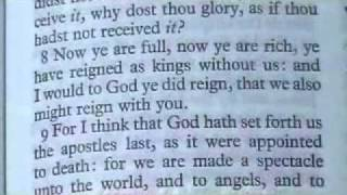 1 Corinthians 4 King James Holy Bible