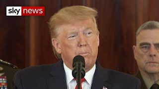 trump says sanctions will remain until iran changes its behaviour