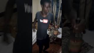 "Museveni's grandson dancing to ""squat stand"" by Tip Swizzy (an optional dance)"