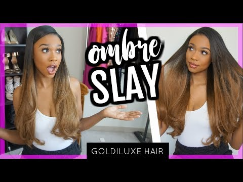 #HAIRWEEK How To Clip in Ombre Extensions BLEND SIS! Goldiluxe Hair